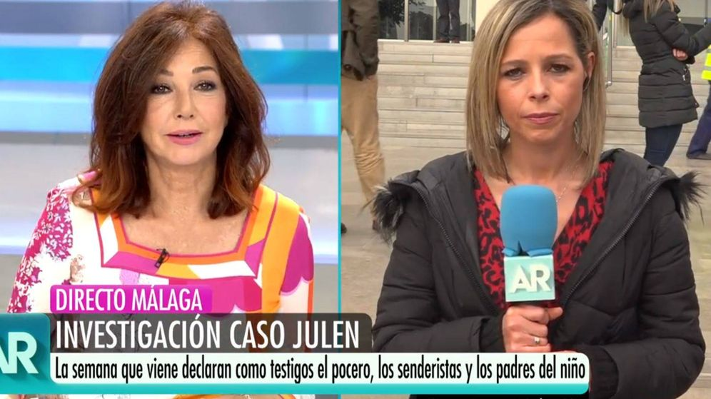Foto: Ana Rosa Quintana con una de sus reporteras. (Mediaset España)