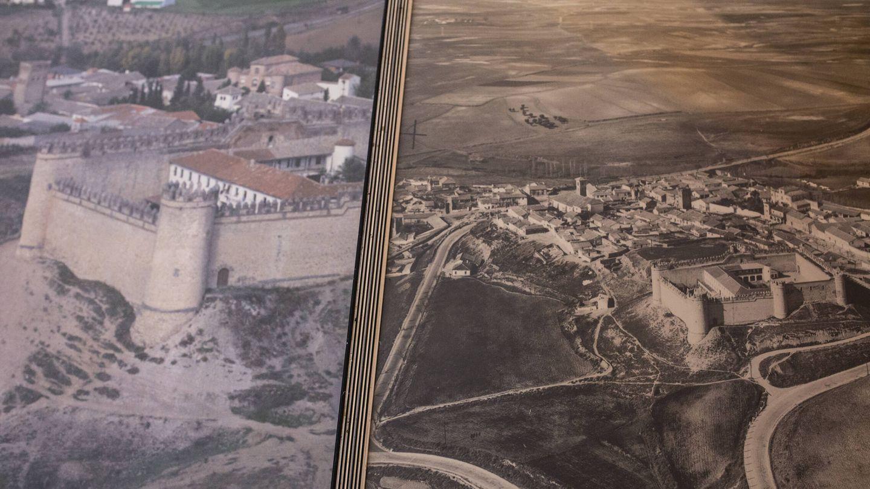 Fotografías antiguas de Maqueda cuando había un cuartel de la Guardia Civil dentro del castillo de Maqueda. (A. M. V.)