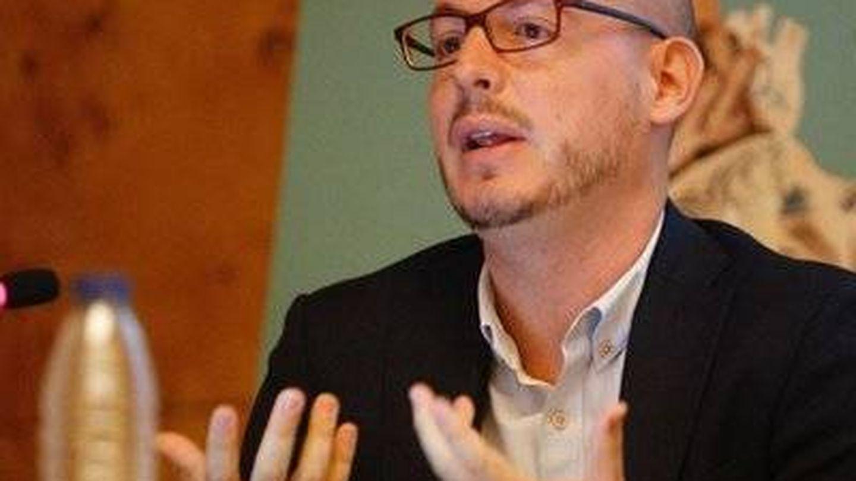 Victorio Heredero, en una charla.