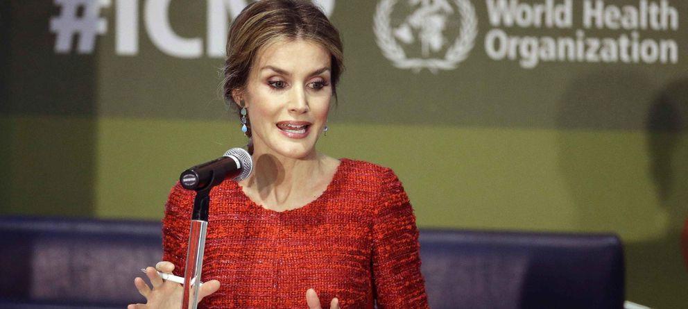 Foto: La Reina, durante su intervención