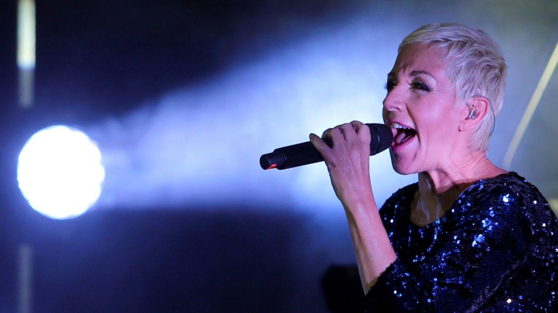 Foto: La cantante española Ana Torroja en el centro de eventos Casapiedra en Santiago de Chile. (EFE)