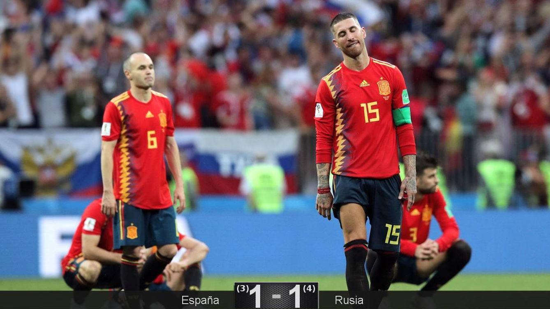 Foto: España se despide del Mundial tras caer en octavos ante Rusia. (Reuters)
