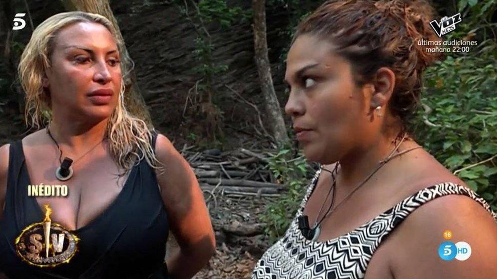 Foto: Raquel Mosquera y Saray Montoya, en 'Supervivientes 2018'.