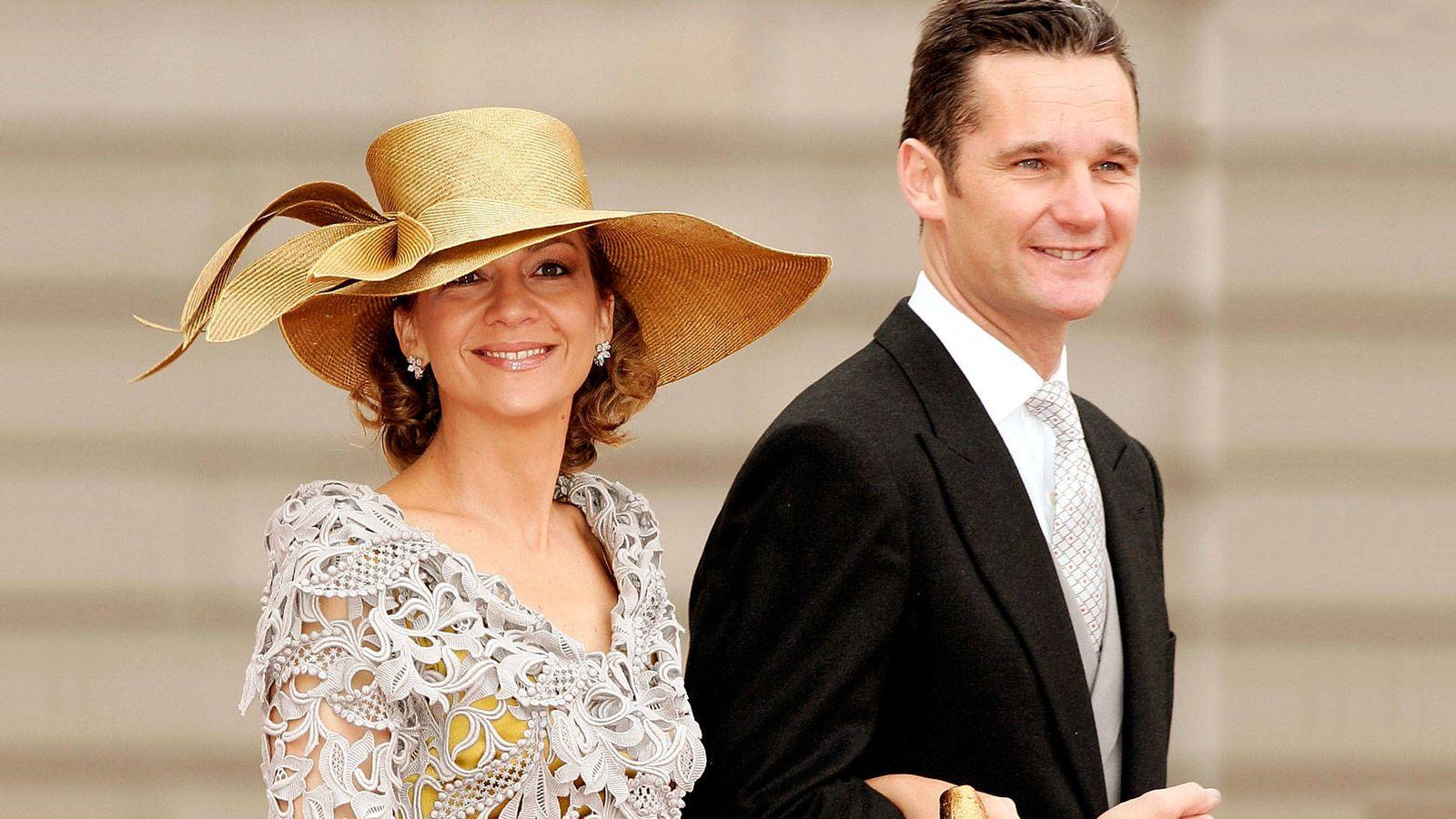 Foto:  La infanta Cristina e Iñaki Urdangarin, en la boda. (Getty)