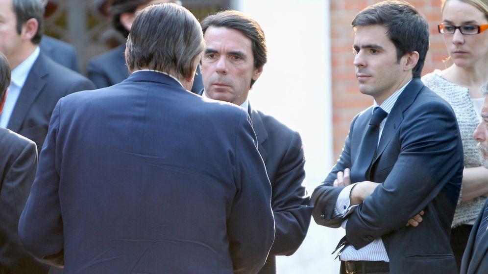 Foto: El expresidente José María Aznar y su hijo José María Aznar Jr. (I.C.)