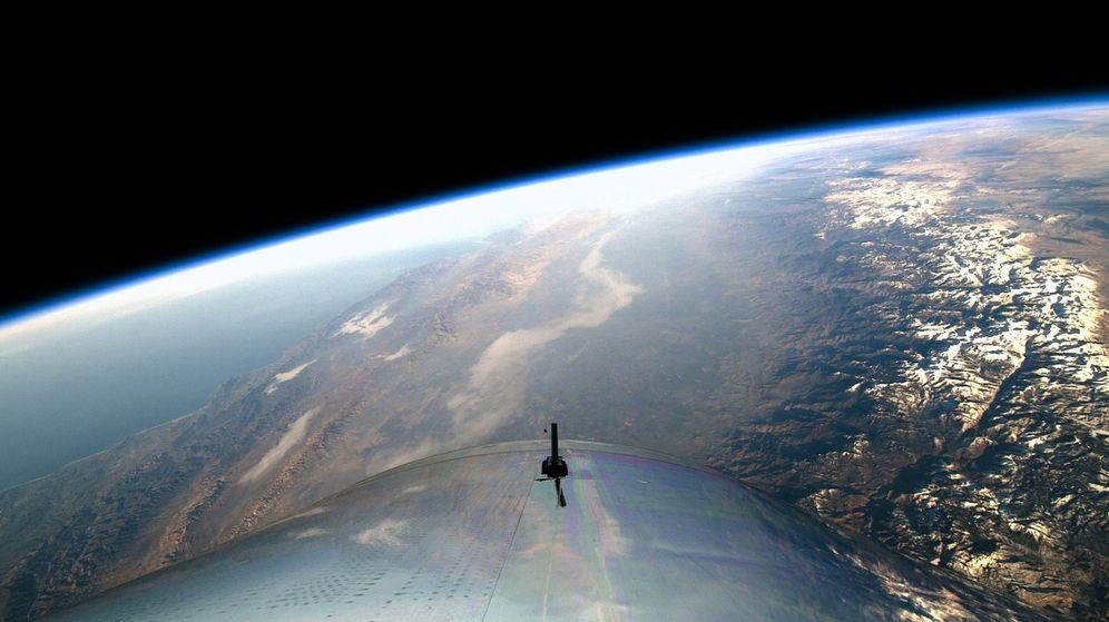 Foto: Fotografía de un vuelo espacial de Virgin Galactic