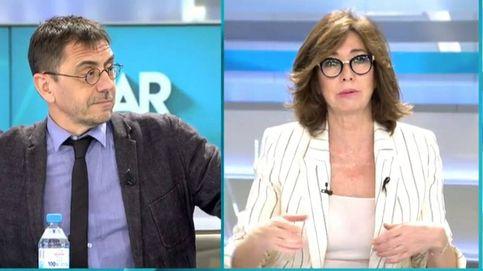 ¡Juan Carlos, ya, se acabó!: Ana Rosa para los pies a Monedero, que le echa en cara muertos de primera y de segunda