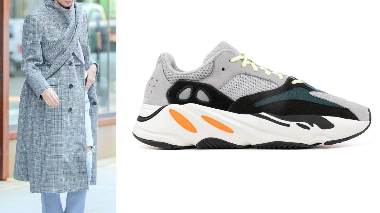 Kendall Jenner y sus zapatillas Yeezy Wave Runner 700. (Gtres)