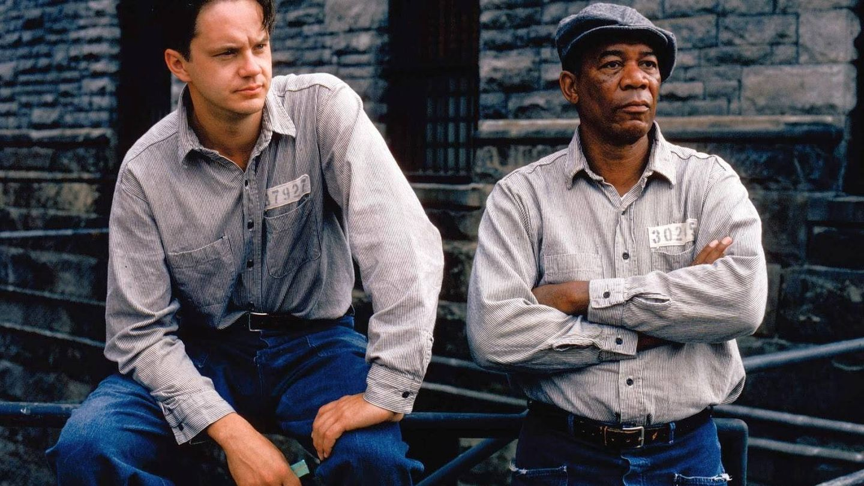 Tim Robbins y Morgan Freeman, en 'Cadena perpetua'