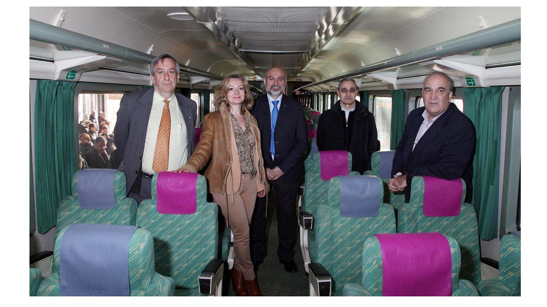 Foto: Alberto García Álvarez (d), nuevo gerente de la Fundación de los Ferrocarriles Españoles (Asociación de Amigos del Ferrocarril de Madrid)