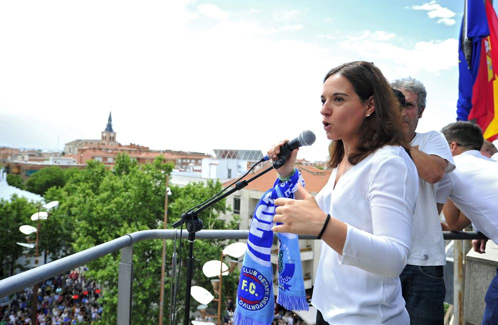 Foto: Sara Hernández, alcaldesa de Getafe y todavía secretaria general del PSOE-M, el pasado 25 de junio en su localidad. (EFE)