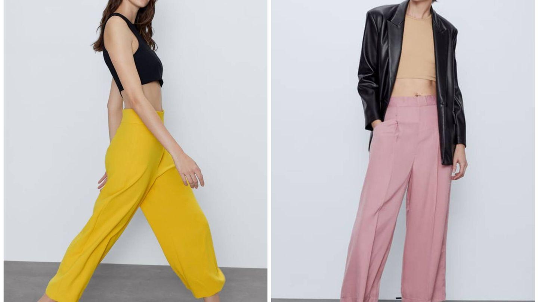 Nuevos diseños de pantalón de Zara. (Cortesía)