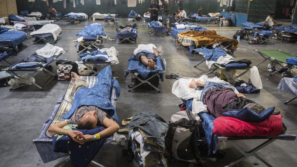 Foto: Nuevo centro de refugiados cerca de Frankfurt. (EFE)