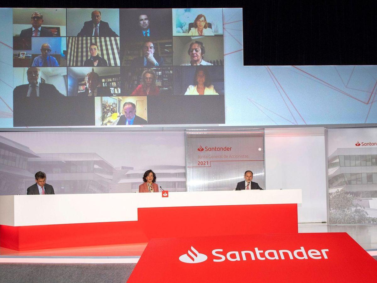 Foto: El Santander confía en un rebote económico y promete dividendos cuanto antes.