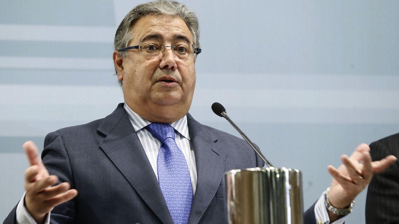 Foto: Juan Ignacio Zoido, en la rueda de prensa de este martes en el Ministerio (EFE)
