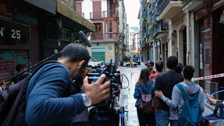 Imagen del rodaje de 'La víctima número 8'. (Telemadrid)