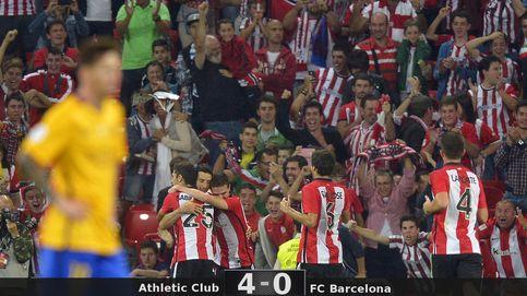 Un vigoroso y soberbio Athletic pasa por encima de un Barcelona sin defensa