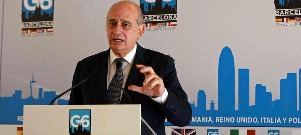 Foto: El ministro del Interior, Jorge Fernández Díaz, este jueves, en Barcelona (EFE)