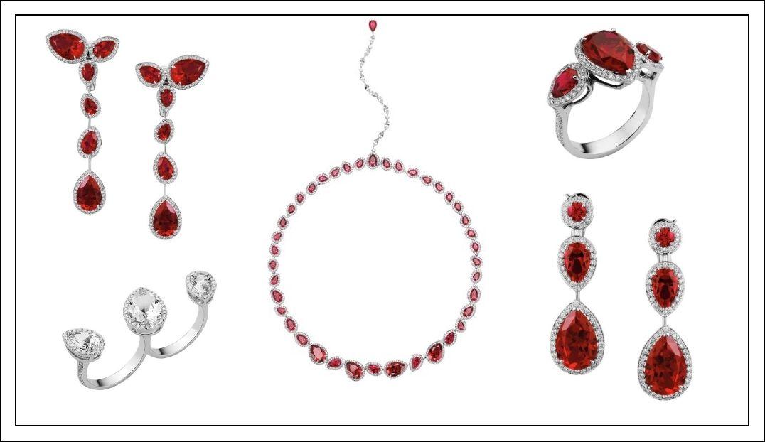 Algunas de las joyas de la colección de Penélope Cruz. (Cortesía de la marca)