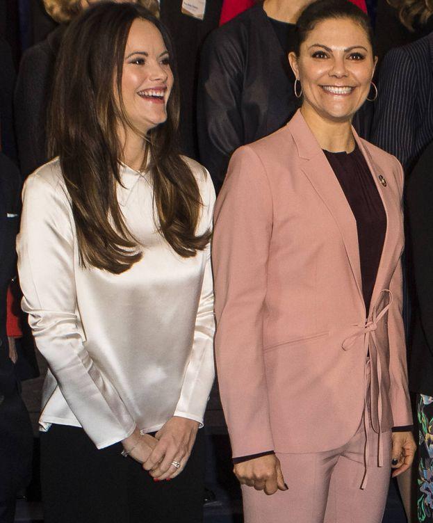 Foto: Victoria y Sofía de Suecia en un acto. (Getty Images)