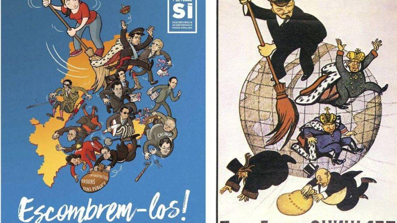 Foto: La CUP presenta un cartel para su campaña por el sí a la independencia.