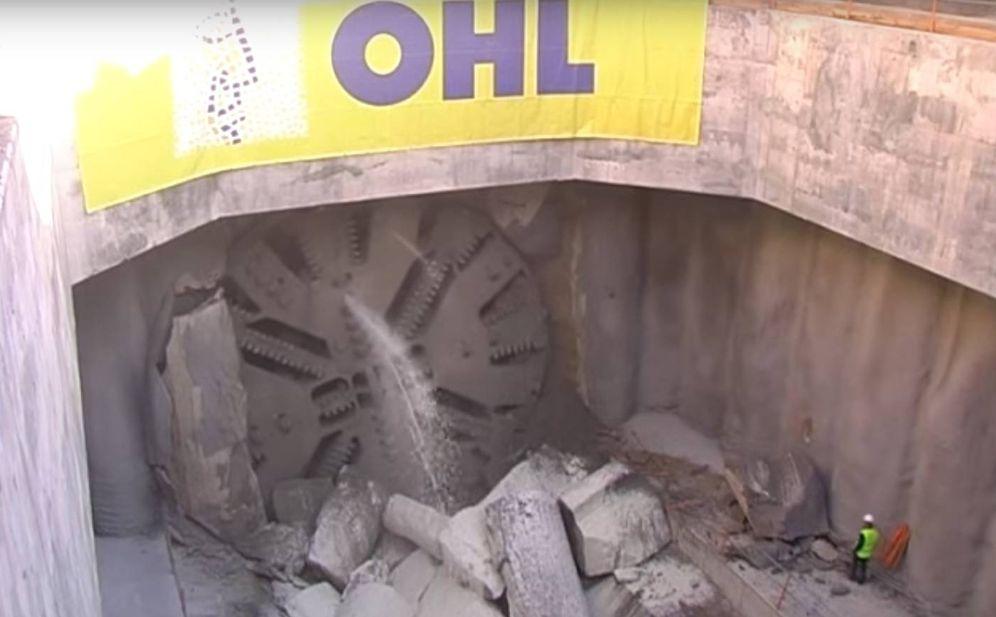 Foto: La tuneladora trabajando en el túnel de Cercanías de Móstoles y Navalcarnero.