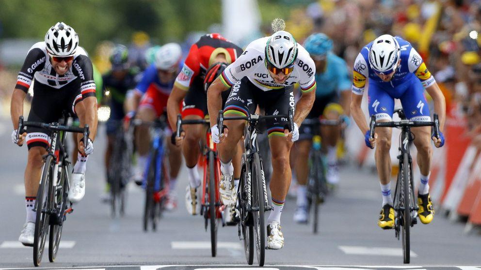 La primera de muchas sonrisas de Sagan honra la ausencia de Valverde