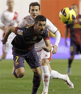 Foto: Villa, baja de última hora ante el Levante por problemas en el tobillo