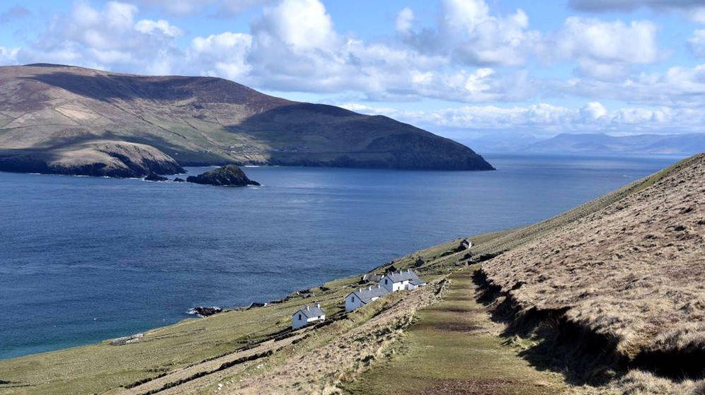 Foto: La isla de Great Blasket es un paraje único frente a la costa del suroeste de Irlanda (Foto: Twitter)