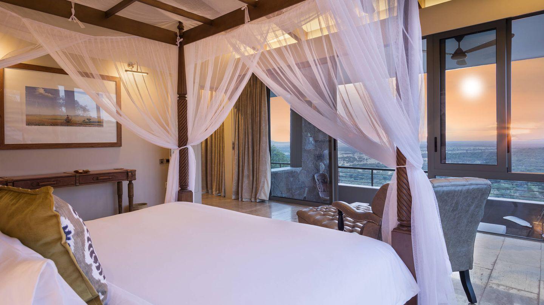 Una de las habitaciones del Meliá Serengeti Lodge.