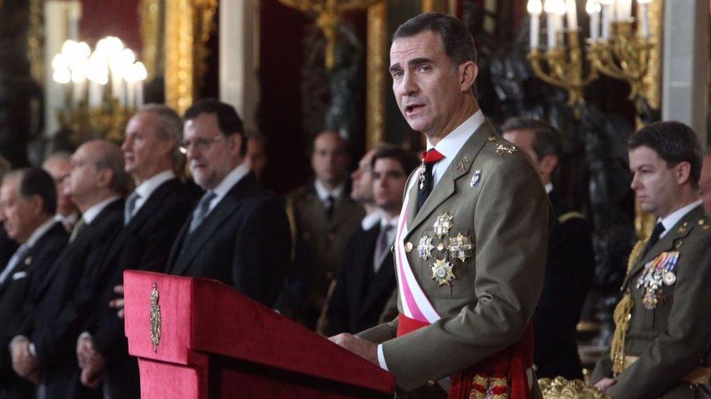 Foto: El rey durante su discurso en la recepción durante la Pascua Militar. (EFE)