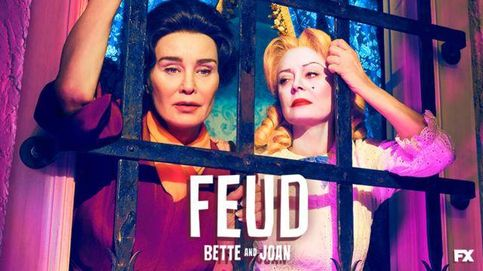 Imagen promocional de 'Feud: Bette and Joan' con Jessica Lange y Susan Sarandon.