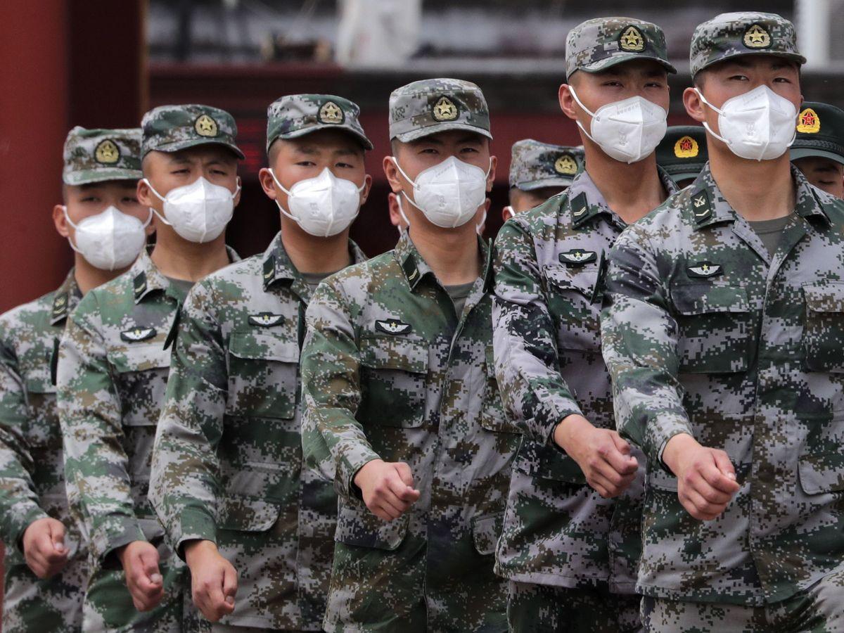 Foto: El ejército chino en Pekín. (Reuters)