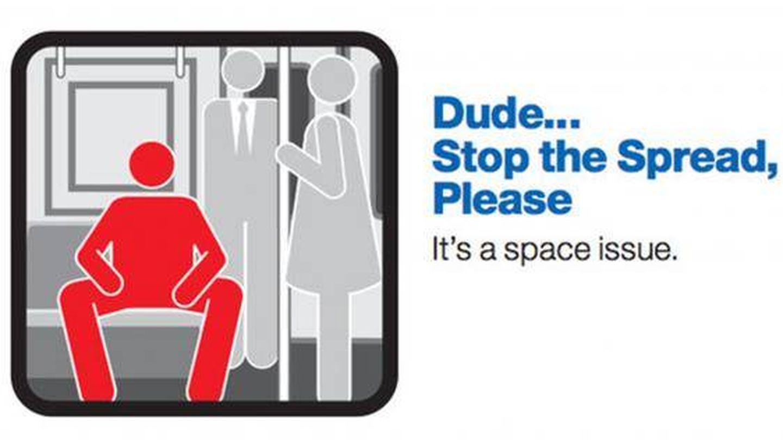 Ejemplo del cartel que lleva el metro de Nueva York.