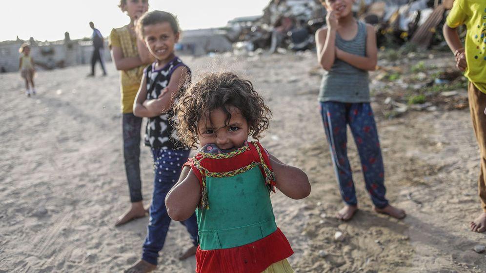 Foto: Un campo de refugiados en la Franja de Gaza. (EFE)