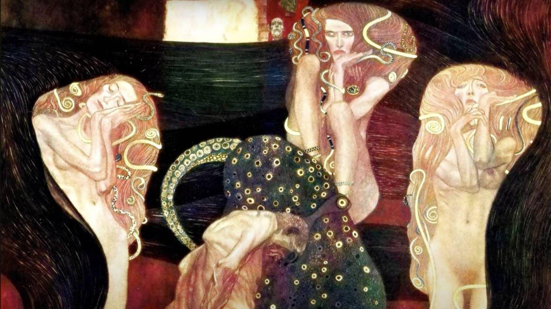 Foto: Una inteligencia artificial le ha devuelto el color a estas obras perdidas de Klimt. (Google)
