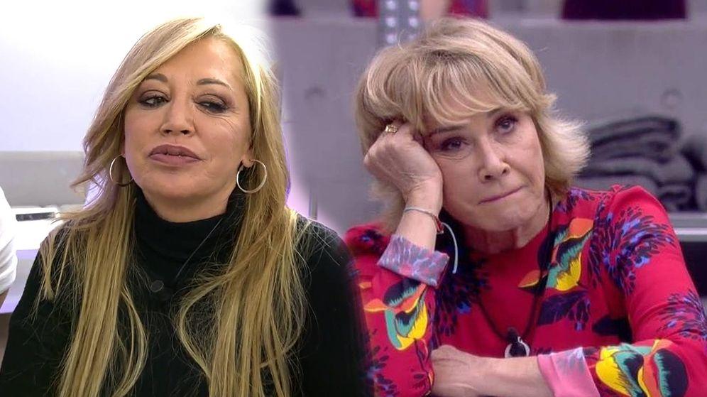 Foto: Belén Esteban, en 'Sálvame'; Mila Ximénez, en 'GH VIP 7'. (Telecinco)