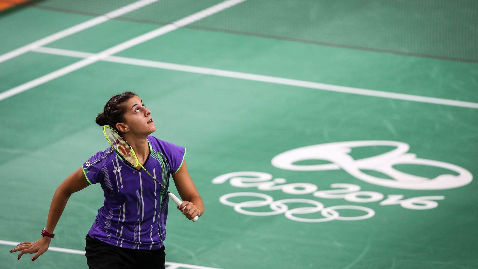 Foto: Carolina Marín durante un entrenamiento en Río. (Fernando Bizerra/EFE)
