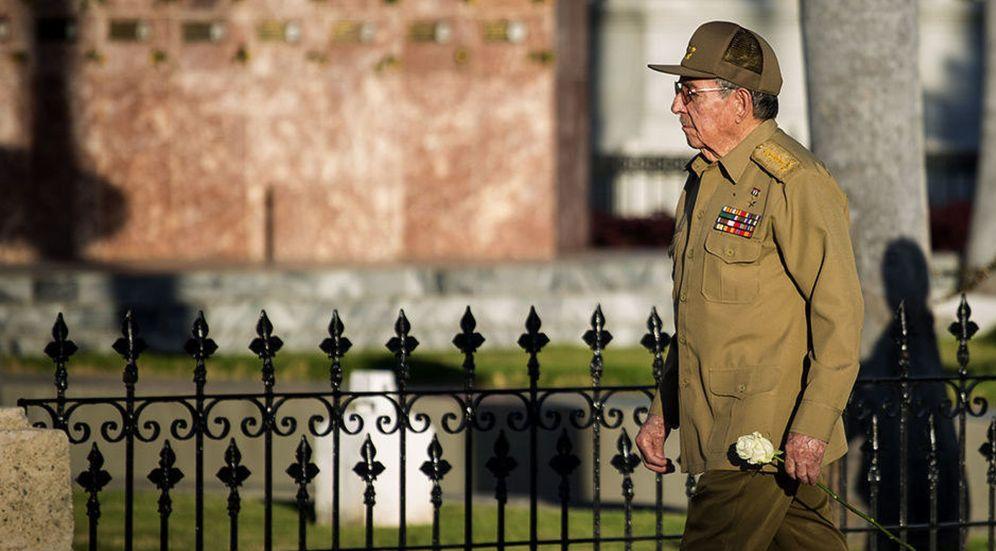 Foto: Raúl Castro, durante un homenaje a su hermano, el fallecido líder cubano Fidel Castro. (EFE)