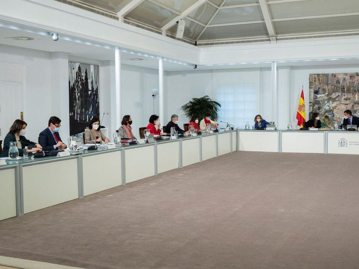 Foto: Reunión del Consejo de Ministros, el último de Salvador Illa como titular de Sanidad. (EFE)