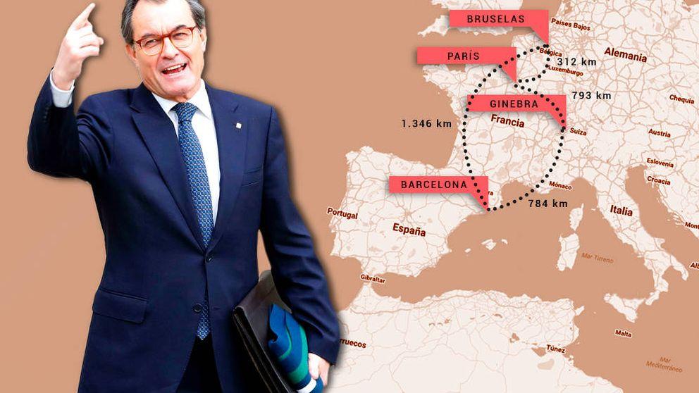 La inhabilitación no frena a Mas: 3.200 km de gira europea para vender el procés