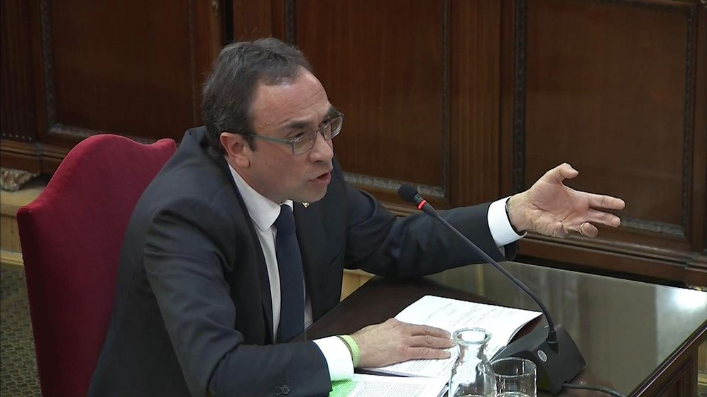 Foto: Captura de la señal institucional del Tribunal Supremo con la declaración del exconseller de Territori, Josep Rull. (EFE)