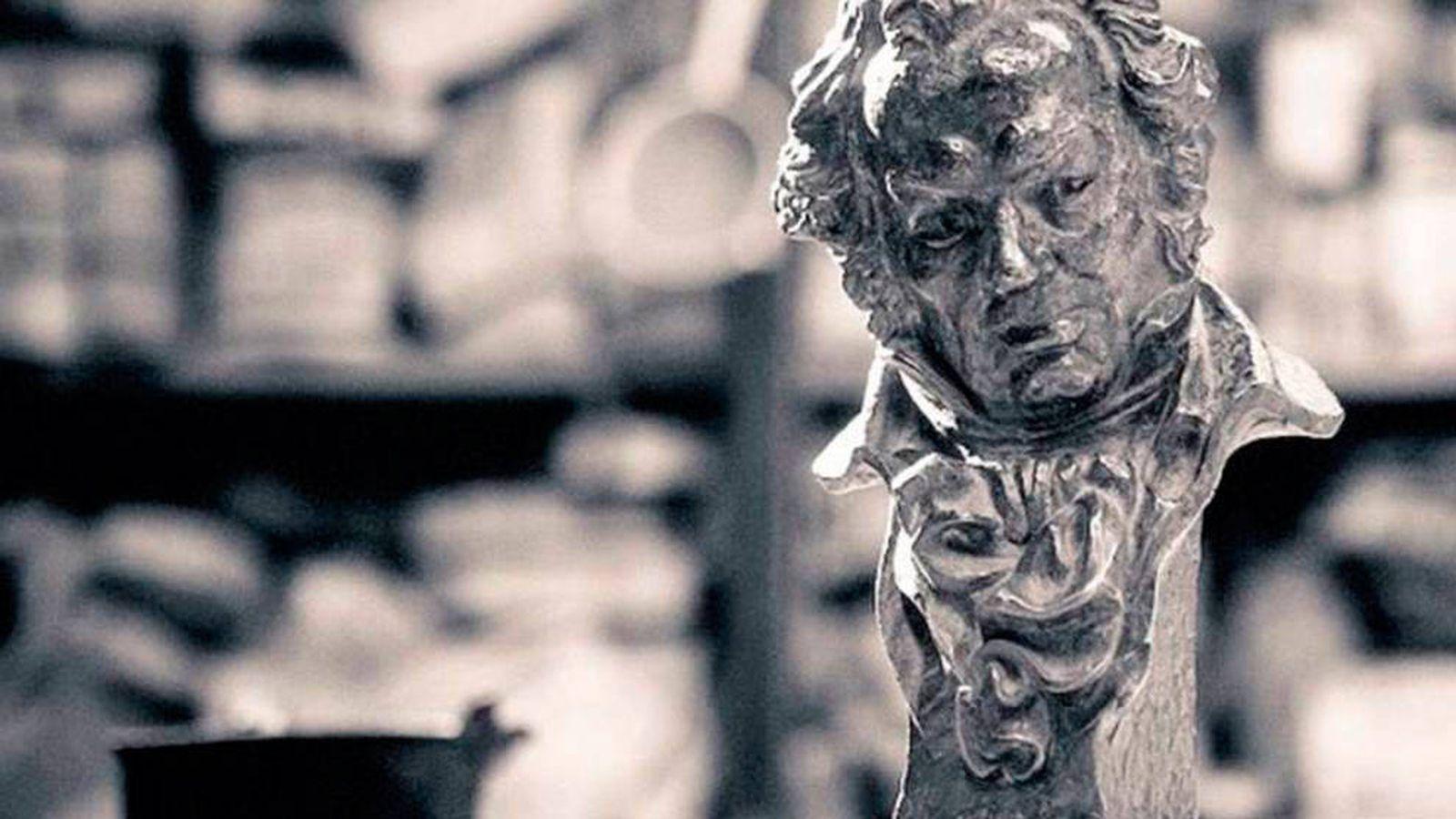 Foto: Estatuilla de los Goya.