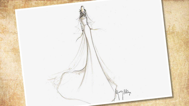 El sorprendente primer vestido de novia de Sandra Gago