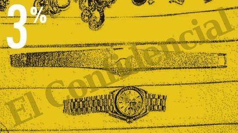 El tesoro oculto de un constructor del 3%: pulseras, relojes, monedas y billetes de 200€