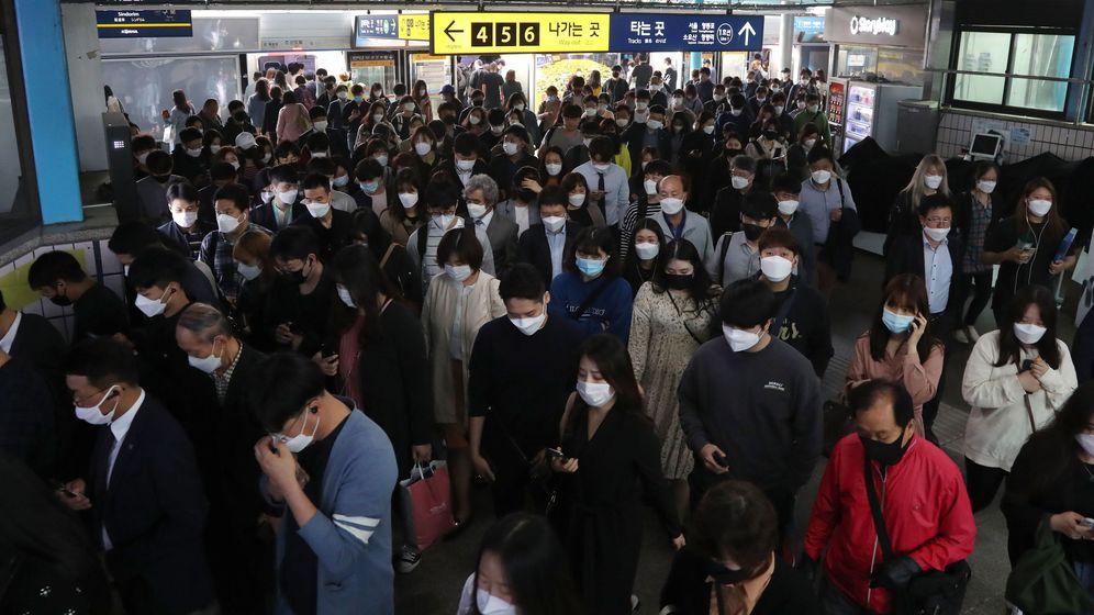 Foto: Estación de tren en Seúl, Corea del Sur (EFE)