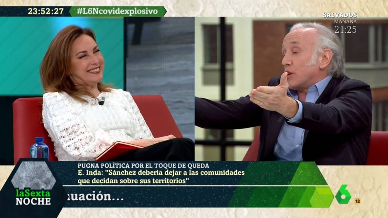 'La Sexta noche': El zasca de Eduardo Inda a Angélica Rubio a colación de Zapatero
