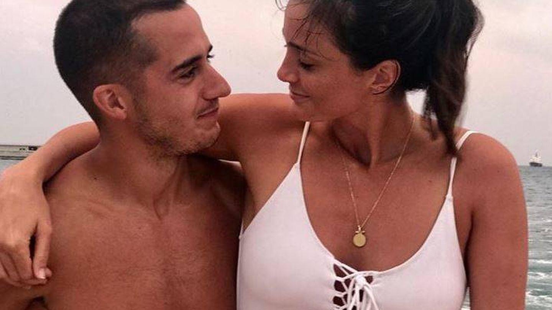 Macarena Rodríguez y Lucas Vázquez. (Instagram)