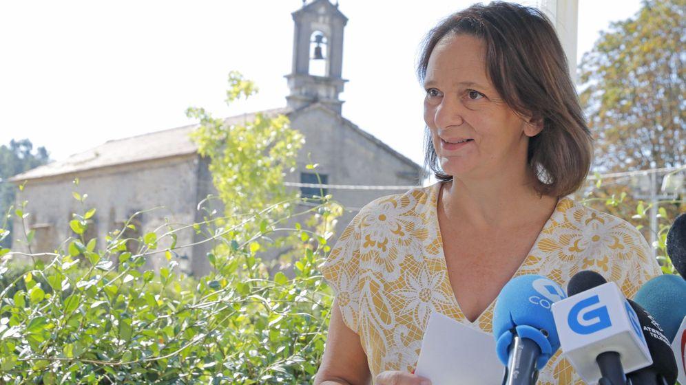 Foto: La diputada de Unidos Podemos, Carolina Bescansa, durante el anuncio de su candidatura a la Secretaría general de Podemos Galicia, en Santiago de Compostela. (EFE)