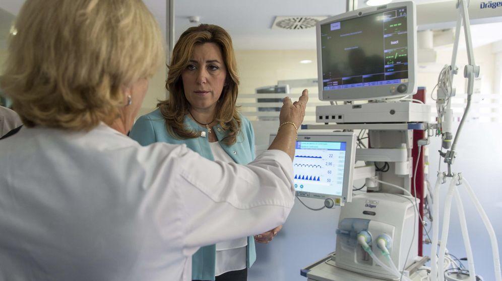 Foto: La presidenta andaluza, Susana Díaz, durante la inauguración de la nueva UCI pediátrica del Hospital Virgen del Rocío de Sevilla. (EFE)